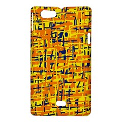 Yellow, orange and blue pattern Sony Xperia Miro