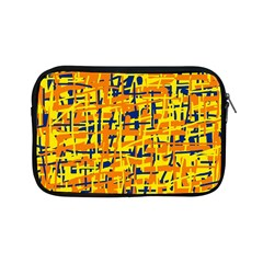 Yellow, orange and blue pattern Apple iPad Mini Zipper Cases