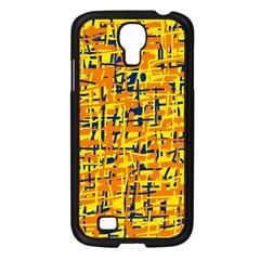 Yellow, orange and blue pattern Samsung Galaxy S4 I9500/ I9505 Case (Black)