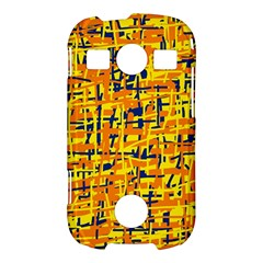 Yellow, orange and blue pattern Samsung Galaxy S7710 Xcover 2 Hardshell Case