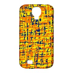 Yellow, orange and blue pattern Samsung Galaxy S4 Classic Hardshell Case (PC+Silicone)