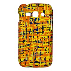 Yellow, orange and blue pattern Samsung Galaxy Ace 3 S7272 Hardshell Case