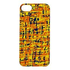 Yellow, orange and blue pattern Apple iPhone 5S/ SE Hardshell Case