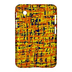 Yellow, orange and blue pattern Samsung Galaxy Tab 2 (7 ) P3100 Hardshell Case