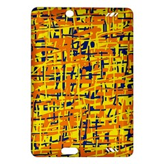 Yellow, orange and blue pattern Amazon Kindle Fire HD (2013) Hardshell Case