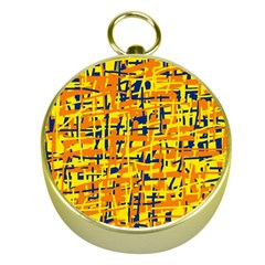 Yellow, orange and blue pattern Gold Compasses