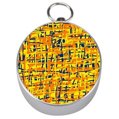 Yellow, orange and blue pattern Silver Compasses