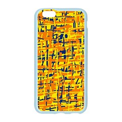 Yellow, orange and blue pattern Apple Seamless iPhone 6/6S Case (Color)