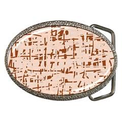 Brown elegant pattern Belt Buckles