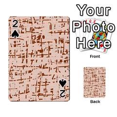 Brown elegant pattern Playing Cards 54 Designs