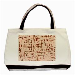Brown elegant pattern Basic Tote Bag