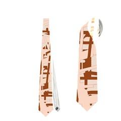 Brown elegant pattern Neckties (Two Side)