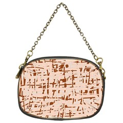 Brown elegant pattern Chain Purses (Two Sides)