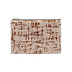 Brown elegant pattern Cosmetic Bag (Medium)