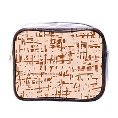 Brown elegant pattern Mini Toiletries Bags