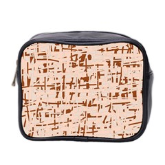 Brown elegant pattern Mini Toiletries Bag 2-Side