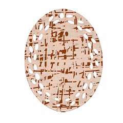 Brown elegant pattern Ornament (Oval Filigree)