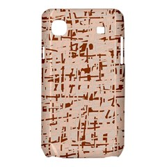 Brown elegant pattern Samsung Galaxy SL i9003 Hardshell Case