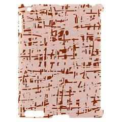 Brown elegant pattern Apple iPad 2 Hardshell Case (Compatible with Smart Cover)