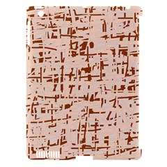 Brown elegant pattern Apple iPad 3/4 Hardshell Case (Compatible with Smart Cover)