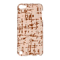 Brown elegant pattern Apple iPod Touch 5 Hardshell Case
