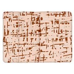 Brown elegant pattern Kindle Fire (1st Gen) Flip Case