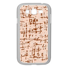 Brown elegant pattern Samsung Galaxy Grand DUOS I9082 Case (White)