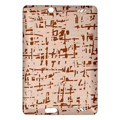 Brown elegant pattern Amazon Kindle Fire HD (2013) Hardshell Case
