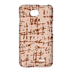 Brown elegant pattern LG Optimus L70