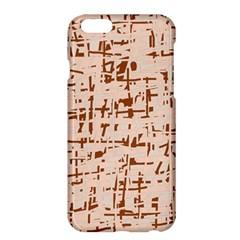 Brown elegant pattern Apple iPhone 6 Plus/6S Plus Hardshell Case