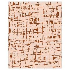 Brown elegant pattern Drawstring Bag (Small)