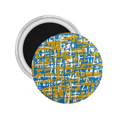 Blue and yellow elegant pattern 2.25  Magnets