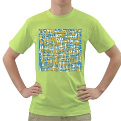 Blue and yellow elegant pattern Green T-Shirt