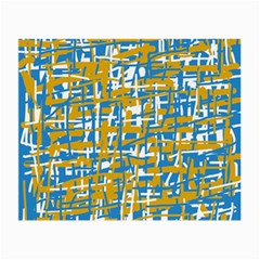 Blue and yellow elegant pattern Small Glasses Cloth (2-Side)