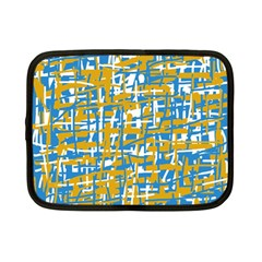 Blue and yellow elegant pattern Netbook Case (Small)