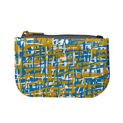 Blue and yellow elegant pattern Mini Coin Purses