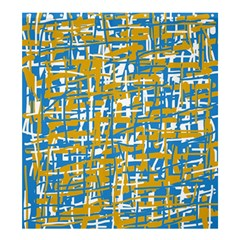Blue and yellow elegant pattern Shower Curtain 66  x 72  (Large)