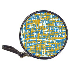 Blue and yellow elegant pattern Classic 20-CD Wallets