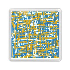 Blue and yellow elegant pattern Memory Card Reader (Square)
