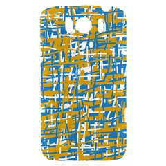 Blue and yellow elegant pattern HTC Sensation XL Hardshell Case