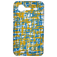 Blue and yellow elegant pattern HTC Incredible S Hardshell Case