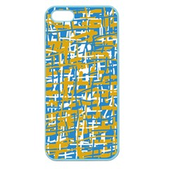 Blue and yellow elegant pattern Apple Seamless iPhone 5 Case (Color)