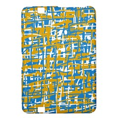 Blue and yellow elegant pattern Kindle Fire HD 8.9