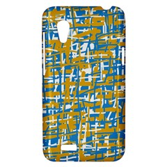 Blue and yellow elegant pattern HTC Desire VT (T328T) Hardshell Case