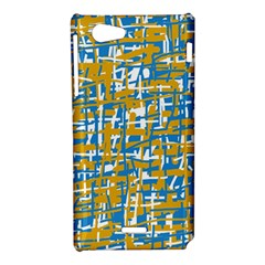 Blue and yellow elegant pattern Sony Xperia J