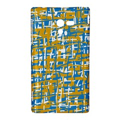 Blue and yellow elegant pattern Sony Xperia ZL (L35H)