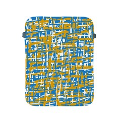 Blue and yellow elegant pattern Apple iPad 2/3/4 Protective Soft Cases