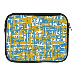 Blue and yellow elegant pattern Apple iPad 2/3/4 Zipper Cases