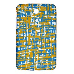 Blue and yellow elegant pattern Samsung Galaxy Tab 3 (7 ) P3200 Hardshell Case