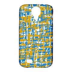 Blue and yellow elegant pattern Samsung Galaxy S4 Classic Hardshell Case (PC+Silicone)